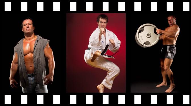 Filmstreifen Sportlerporträt kurz
